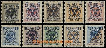 204353 - 1916 Mi.97-106, Landstormen II 5Ö+5Ö - 10Ö+90Ö; kompletní sé