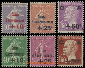 204388 - 1928-1929 Mi.232-234, 244-246, two complete sets Caisse d´Am