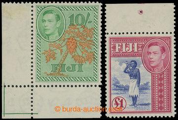 204397 - 1938 SG.266a + 266b, Jiří IV. - Motivy 10Sh a £1, konco