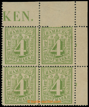 204410 - 1864-1867 Mi.16a, Coat of arms and numerals 4S dark yellow-g