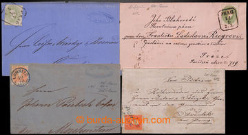 204423 - 1860-1864 sestava 4 dopisů, 2x vyfr. zn. II. emise FJ I. 5Kr