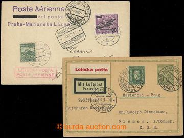 204526 - 1927 1. let MARIÁNSKÉ LÁZNĚ - PRAHA, PRAHA - MARIÁNSKÉ LÁZNĚ