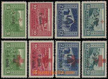 204562 - 1924 Mi.96-99 + Mi.100-103, Červený kříž I. + II., 2 ko