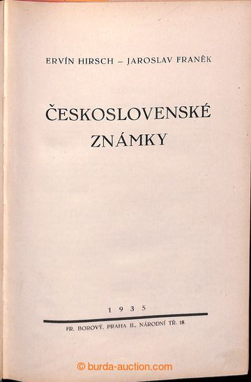 204618 - 1935 ČESKOSLOVENSKÉ ZNÁMKY, Hirsch-Franěk, II. opravené