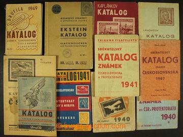 204627 - 1938-1948 STARŠÍ KATALOGY ČS. ZNÁMEK  sestava 11ks starších