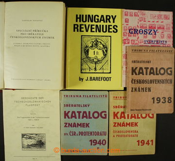 204697 - 1938-2000 SELECTION of / 10 pcs of literature: catalogues Tr