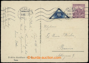 204930 - 1941 postcard to Brno with Delivery stmp 50h, Pof.DR1 and po