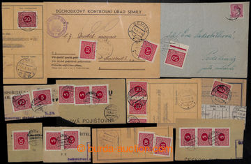 204952 - 1939 comp. of 2 letters + 8 cuts, all with Czechosl. Doplatn