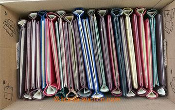 204980 -  SPRING FOLDER / selection of 32 pcs of spring folders; vari