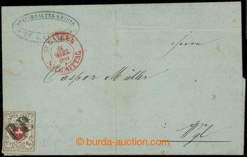 205124 - 1851 Mi.5I, Znak 2½Rp ORTPOST na větší části dopisu do