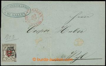 205126 - 1851 Mi.6I, Znak 2½Rp POSTE LOCALE na větší části dopis