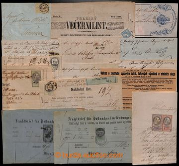 205152 - 1824-1918 [COLLECTIONS]  NEWSPAPER STAMPS, NEWSPAPER MARKS,