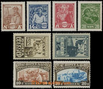 205739 - 1928-1930 Mi.354-357, 361-362, 363-364, 383-384, 10. let Rud