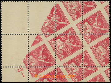 206085 -  Pof.151A VV, 20h červená, rohový 6-blok s VV - šikmý tisk n