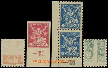 206095 -  Pof.148, 151, 157, 161, Holubice 20h a Osvobozená republika