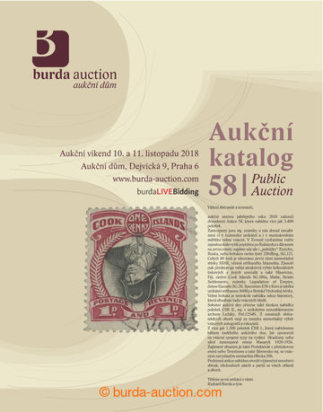 206467 - 2018 BURDA AUCTION s.r.o., katalog dvoudenní Aukce 58, celob
