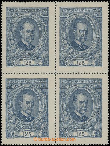 206524 -  Pof.140 ST, 125h modrá, 4-blok, pravá dolní zn. II. typ; ho