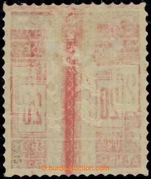 206558 - 1918 Pof.SK1, Skautská 20h červená s obtiskem na lepu; lehká