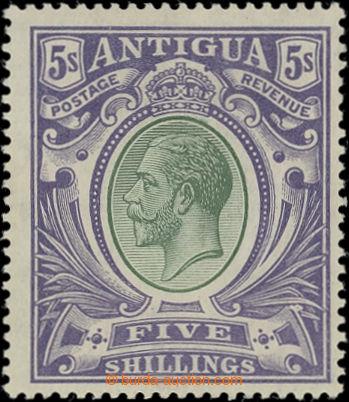 206563 - 1913 SG.51, Jiří V. 5Sh fialová; kat. £95