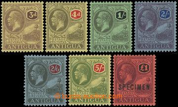 206564 - 1921-1929 SG.55-60, 61s, Jiří V. 3P - $1, průsvitka Mult Cro