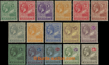 206565 - 1921-1929 SG.62-80, Jiří V. ½P - 4Sh, série bez dvou le