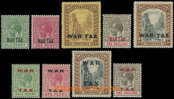 206577 - 1918-1919 SG.96-99, 100, 102-105, Jiří V. WAR TAX; sestava k