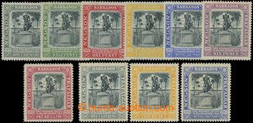 206578 - 1906-1907 SG.145-151, 158-161, Nelson ¼P - 1Sh + ¼