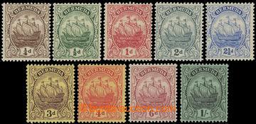 206583 - 1910-1925 SG.44-51, Loď ¼P - 1Sh; kompletní série, kat.