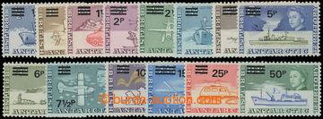 206592 - 1971 SG.25-38, přetiskové Alžběta II. - Motivy; kompletní sé