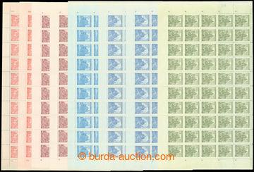 206598 - 1941 Pof.57-61, Krajinky, hrady, města, III. vydání, malé fo