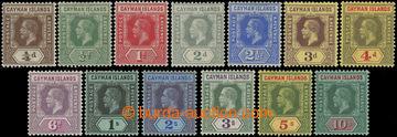 206613 - 1912-1920 SG.40-52, Jiří V. ½P - 10Sh; kompletní série,