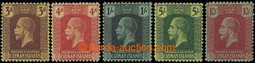 206614 - 1921-1926 SG.60-67, Jiří V. 3P - 10Sh, kompletní série s prů