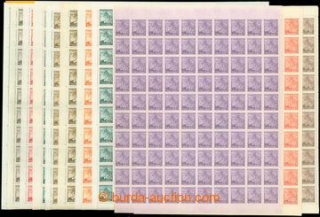 206619 - 1939-1941 Pof.20-27, 54-56, Lipové listy, obě vydání, Hlubot