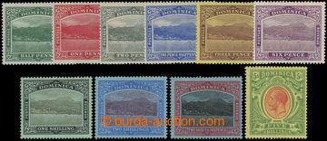 206626 - 1908-1920 SG.47-54, Jiří V. ½P - 5Sh; kompletní série s