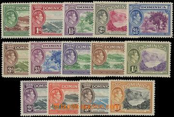 206627 - 1938-1947 SG.99-108a, Jiří VI. - Motivy ½P - 10Sh; komp