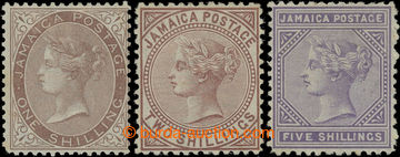 206632 - 1873-1875 SG.13-15, Viktorie 1Sh, 2Sh a 5Sh s průsvitkou Kor