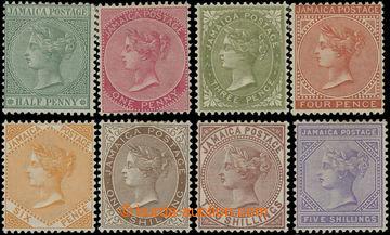 206633 - 1883-1897 SG.16, 18, 21, 22b, 23-26, sestava 8ks Viktorie &#