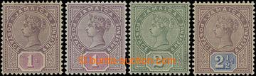 206634 - 1889-1891 SG.27-29, Viktorie 1P - 2½P s průsvitkou Koru