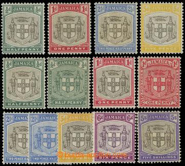 206635 - 1903-1911 SG.33-36, 37-45, dvě kompletní série Znak, průsvit