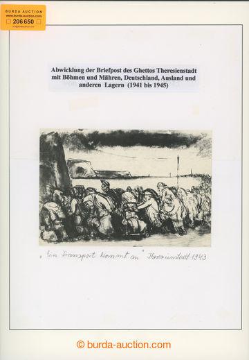 206650 - 1939-1944 GHETTO TEREZÍN - úvodní list exponátu s fotogr