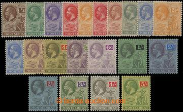 206653 - 1922-1929 SG.63-83, Jiří V. ½P - 5Sh, kompletní série s