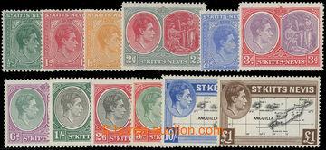 206660 - 1938-1950 SG.68-77, Jiří VI. ½P - £1; kompletní sé