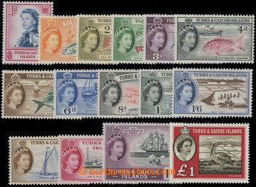 206687 - 1957-1960 SG.237-250, 253, Alžběta II. - Motivy; kompletní s