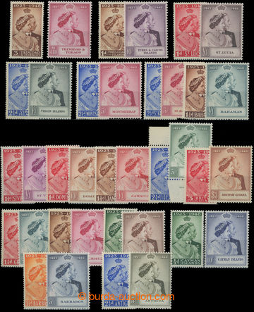 206697 - 1948 OMNIBUS / George VI. - Silver Jubilee, selection of 18