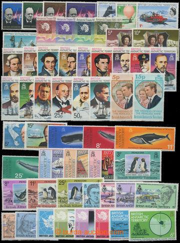 206741 - 1966-1986 SESTAVA / kompletních sérií na kartě A4, obsahuje