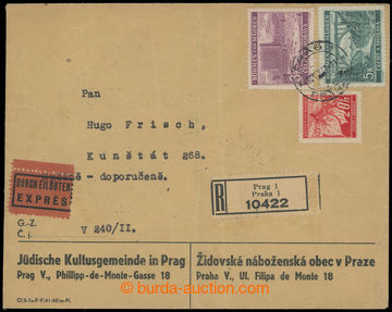 206750 - 1941 GHETTO TERESIENSTADT - PROTECTORATE /  OFFICIAL POST  J