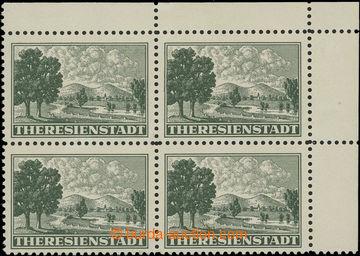 206761 - 1943 Pof.Pr1A, Připouštěcí známka, pravý horní rohový 4-blok