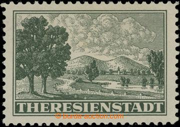 206764 - 1943 Pof.Pr1A, Připouštěcí známka tmavě zelená, ŘZ 10½;