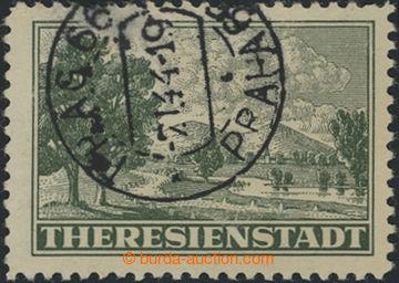 206765 - 1943 Pof.Pr1A, Připouštěcí známka tmavě zelená, ŘZ 10½