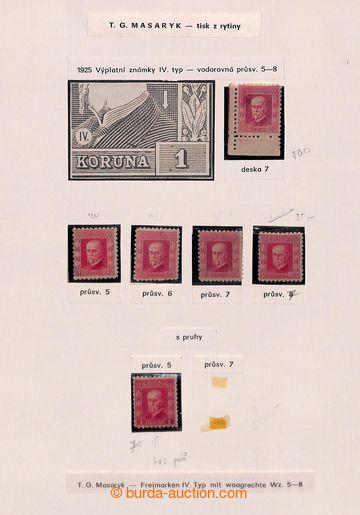 206852 - 1925-1930 [SBÍRKY]   EMISE TGM - DESKOVÁ ČÍSLA  část sbírky